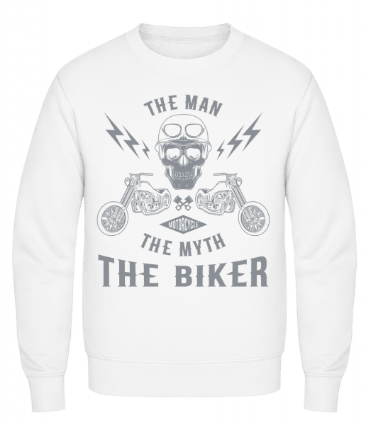 The Man The Myth The Biker - Classic Set-In Sweatshirt - White - Vorn