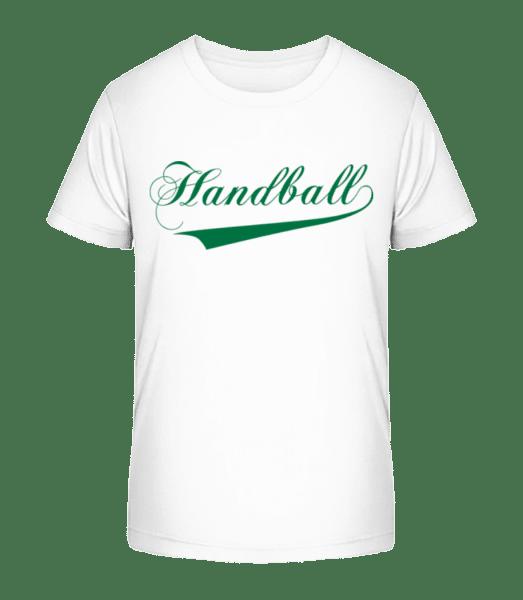 Handball Stroke - Kid's Premium Bio T-Shirt - White - Front