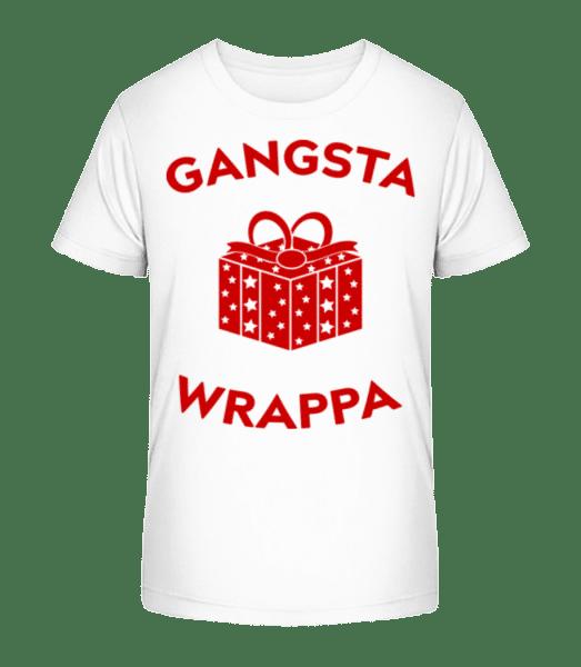 Gangsta Wrappa - Kinder Premium Bio T-Shirt - Weiß - Vorn