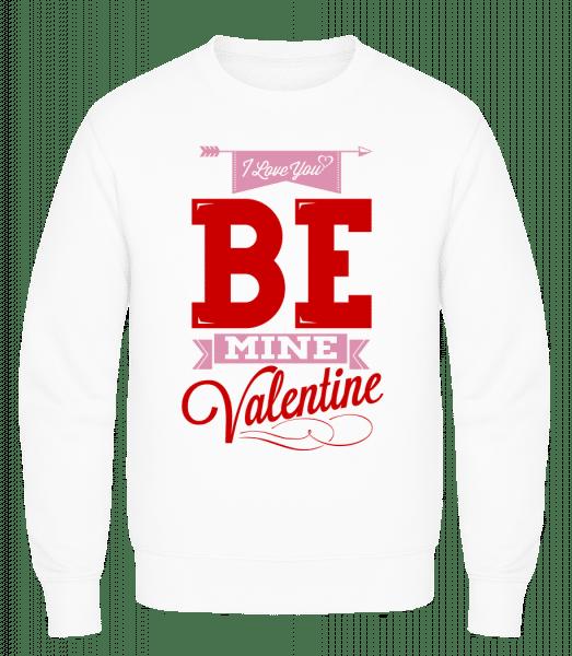 Be Mine Valentine - Männer Pullover AWDis - Weiß - Vorn
