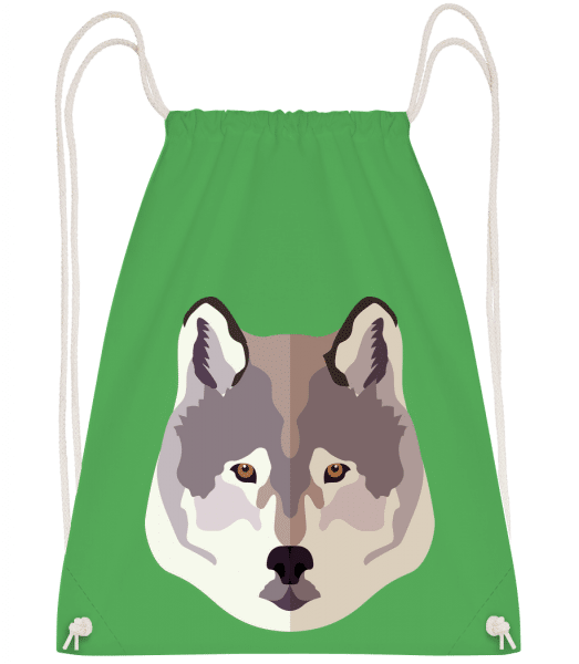 Wolf Comic Shadow - Drawstring Backpack - Kelly green - Vorn