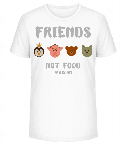 Friends Not Food - Men's Premium Organic T-Shirt Stanley Stella - White - Vorn
