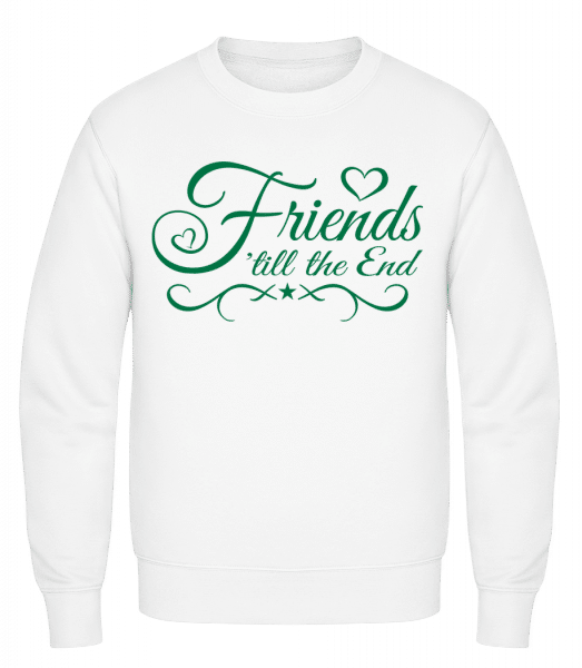 Friends 'Till The End - Classic Set-In Sweatshirt - White - Vorn
