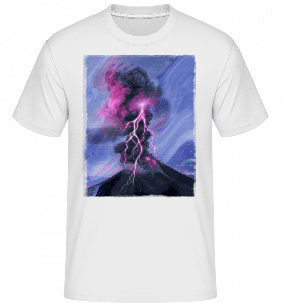 Neon Thunderstorm -  Shirtinator Men's T-Shirt - White - Vorn