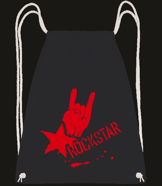 Rockstar Symbol - Turnbeutel - Schwarz - Vorn