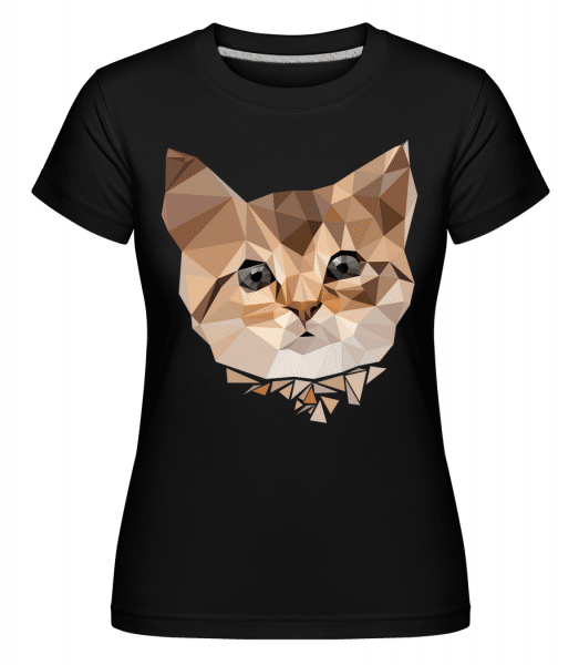 Polygon Cat -  Shirtinator Women's T-Shirt - Black - Vorn
