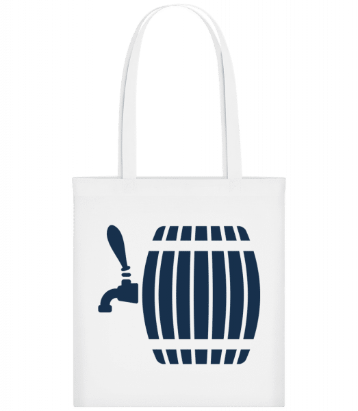 Beer Barrel - Carrier Bag - White - Vorn