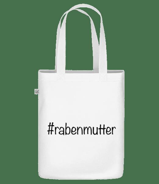 Rabenmutter Hashtag - Bio Tasche - Weiß - Vorn
