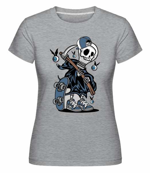 Grim Reaper -  Shirtinator Women's T-Shirt - Heather grey - Vorn