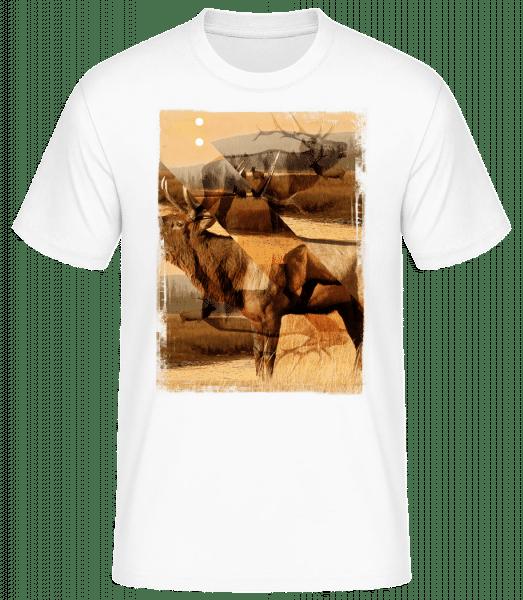 Cerf Créatif - T-shirt standard homme - Blanc - Vorn