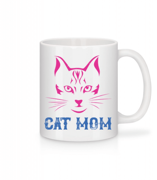 Cat Mom - Mug - White - Front