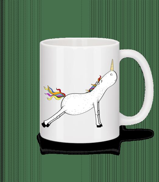 Stretched Yoga Unicorn - Mug - White - Vorn