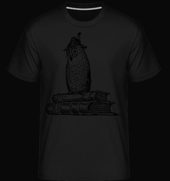 Teacher Owl -  Shirtinator Men's T-Shirt - Black - Vorn