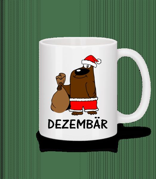 Dezembär - Tasse - Weiß - Vorn