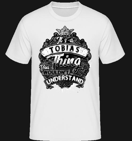 It's A Tobias Thing -  Shirtinator Men's T-Shirt - White - Vorn