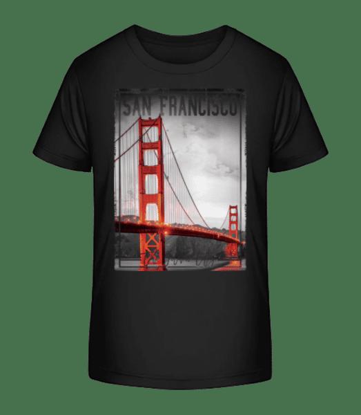 San Francisco Golden City - Kid's Premium Bio T-Shirt - Black - Vorn