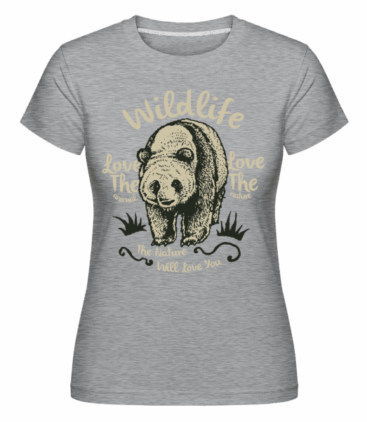Wildlife Panda -  Shirtinator Women's T-Shirt - Heather grey - Vorn