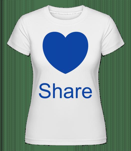 Share Heart -  Shirtinator tričko pro dámy - Bílá - Napřed