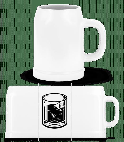 Whiskey Glass - Beer Mug - White - Vorn