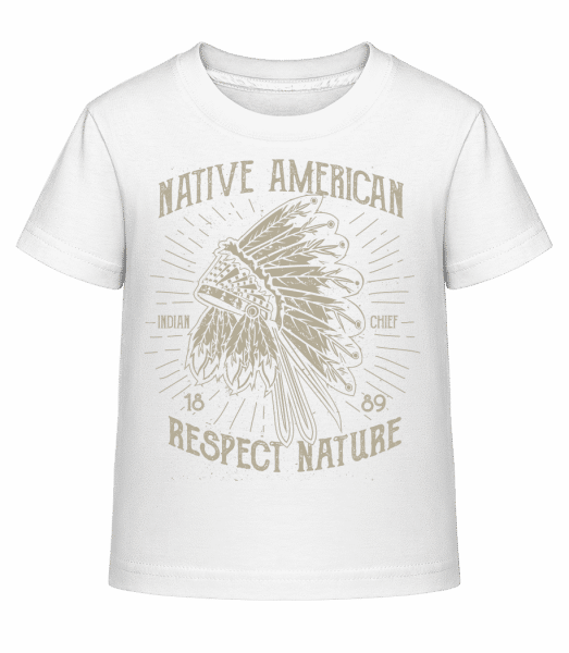 Native American Indian - Kid's Shirtinator T-Shirt - White - Vorn
