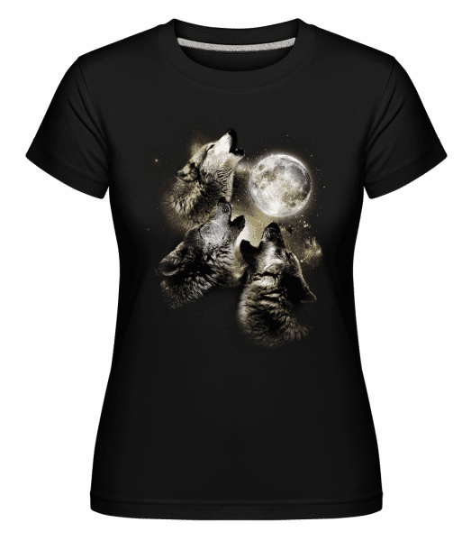 Wolf Moon -  Shirtinator Women's T-Shirt - Black - Vorn