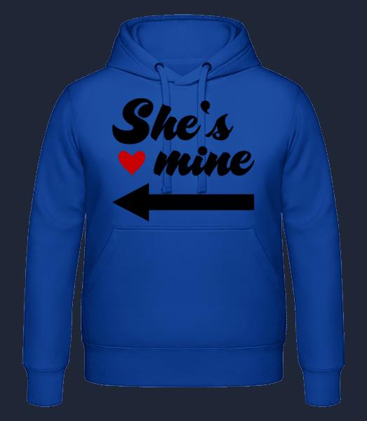 She Is Mine - Men's hoodie - Royal blue - Vorn