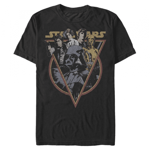 Retro Group Shot - Star Wars - Men's T-Shirt - Black - Front