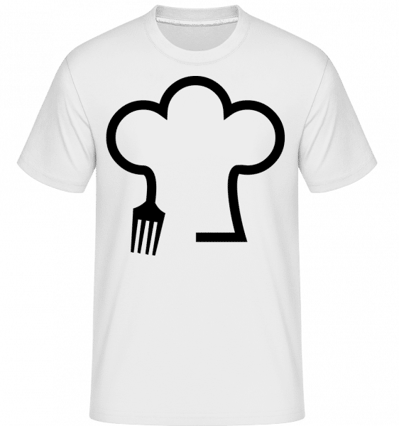 Chef Hat With Fork -  Shirtinator Men's T-Shirt - White - Vorn