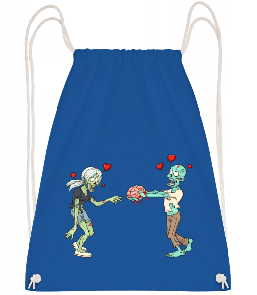 Zombies In Love - Drawstring Backpack - Royal blue - Vorn