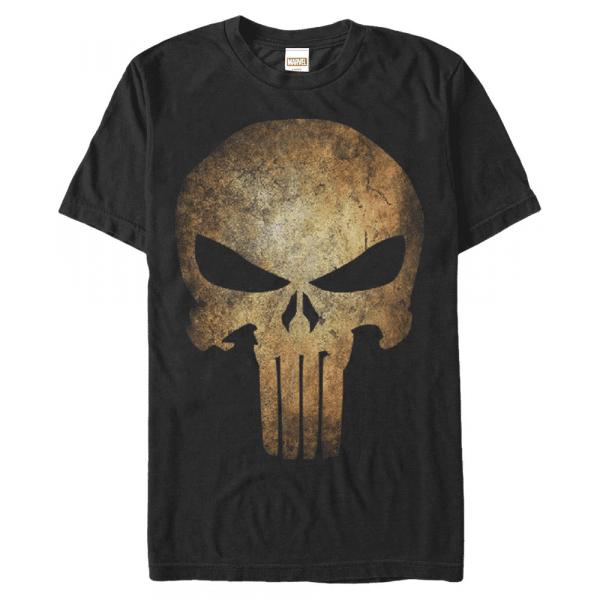 Punisher Real Skull - Marvel - Men's T-Shirt - Black - Front