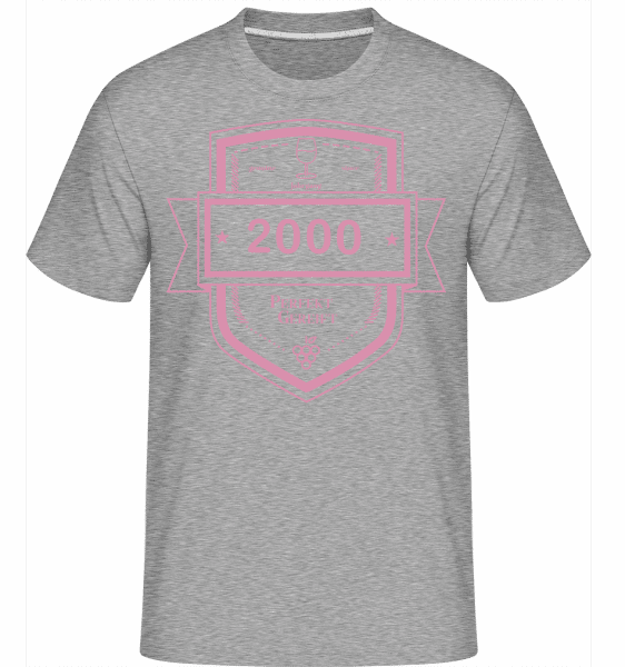 Perfekt Gereift 2000 - Shirtinator Männer T-Shirt - Grau meliert - Vorn