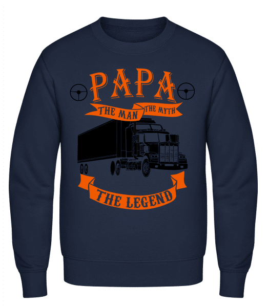 Papa The Legend - Classic Set-In Sweatshirt - Navy - Vorn