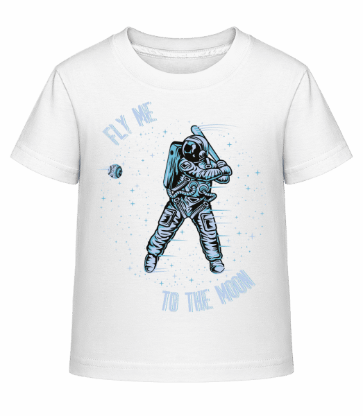 Fly Me To The Moon - Kid's Shirtinator T-Shirt - White - Vorn