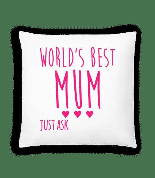 World's Best Mum - Cushion - White - Vorn