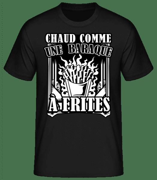 Comme Une Baraque À Frites - T-shirt standard homme - Noir - Vorn