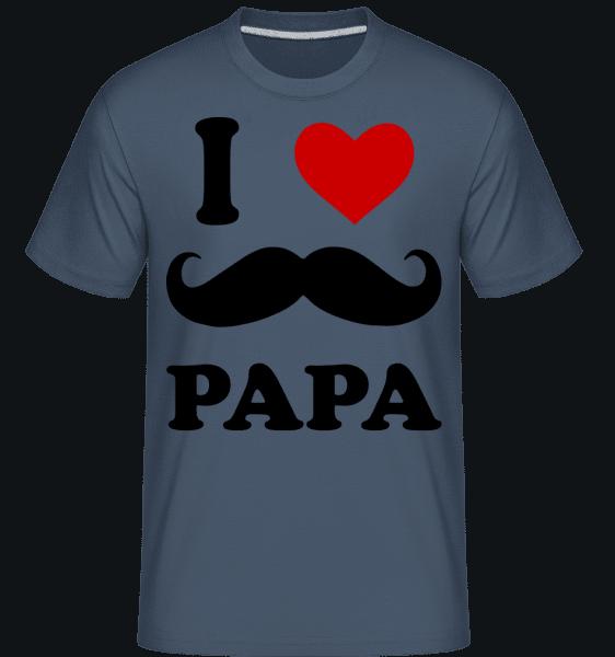 I Love Papa -  Shirtinator Men's T-Shirt - Denim - Vorn