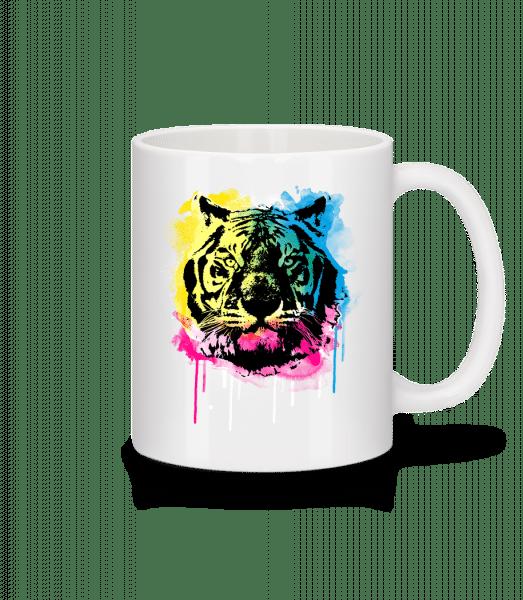 Multicolor Tiger - Mug - White - Vorn