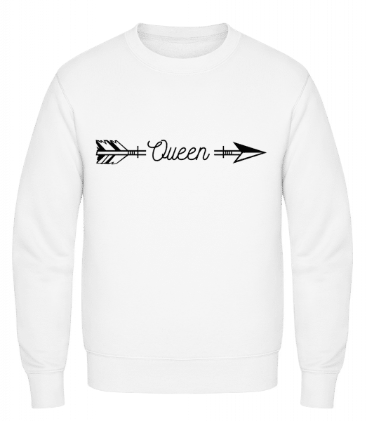 Queen Arrow - Classic Set-In Sweatshirt - White - Vorn