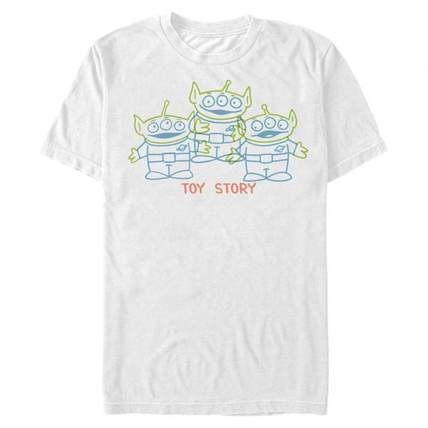 Scribble Aliens - Pixar Toy Story 1-3 - Men's T-Shirt - White - Front