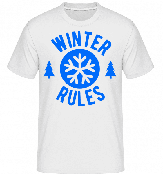 Winter Rules -  Shirtinator Men's T-Shirt - White - Vorn