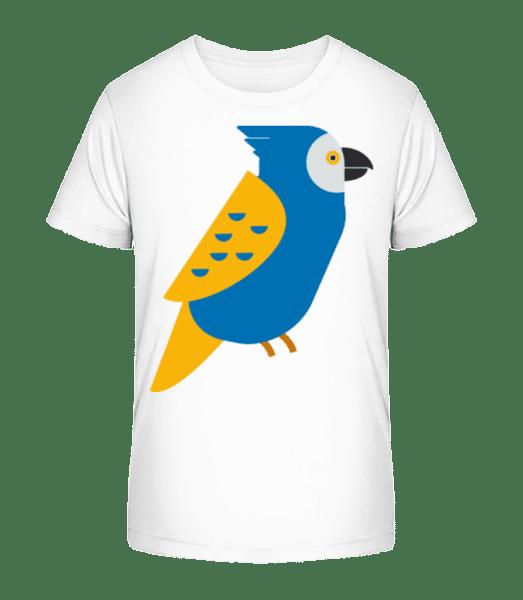 Parrot Picture - Kid's Premium Bio T-Shirt - White - Vorn