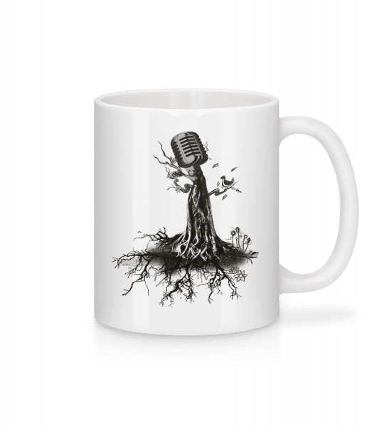 Microphone Tree - Mug - White - Vorn