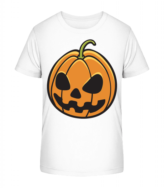 Halloween Pumpkin - Kid's Premium Bio T-Shirt - White - Vorn