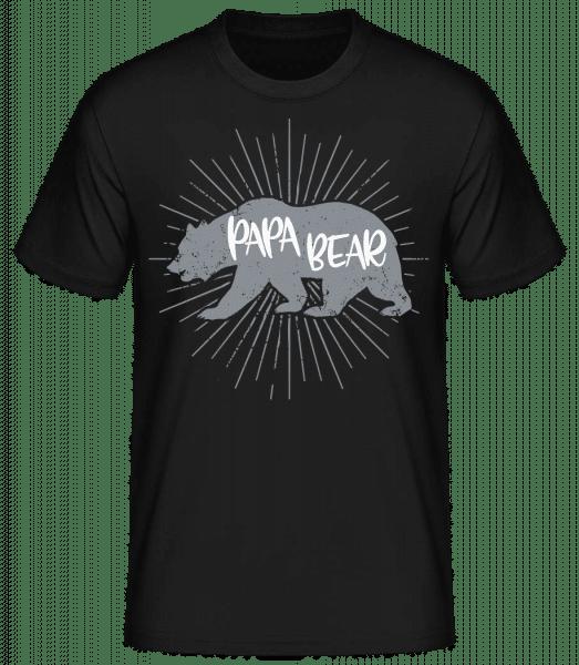 Papa Bear - Basic T-Shirt - Black - Vorn