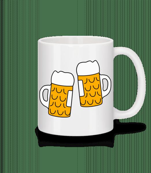 Two Beer - Mug - White - Vorn