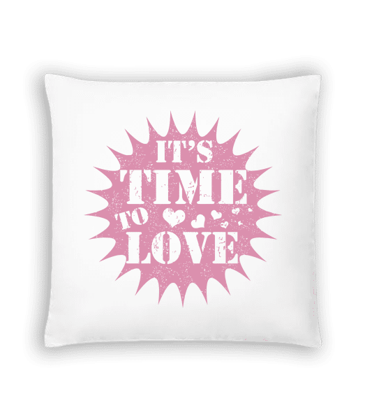 It's Time To Love - Cushion - White - Vorn