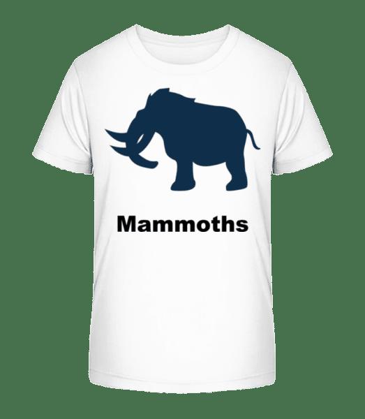 Mammoths - Kid's Premium Bio T-Shirt - White - Vorn