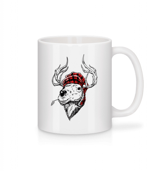 Christmas Reindeer - Mug - White - Vorn