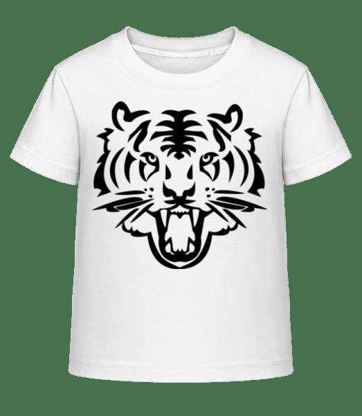 Tiger Head - Kid's Shirtinator T-Shirt - White - Vorn