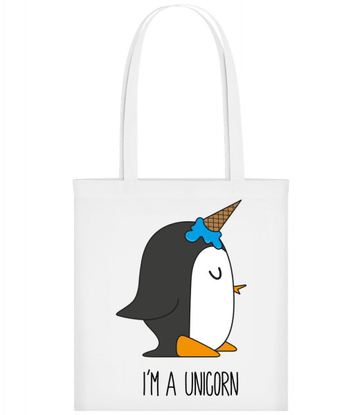 I'm A Unicorn Penguin - Carrier Bag - White - Vorn